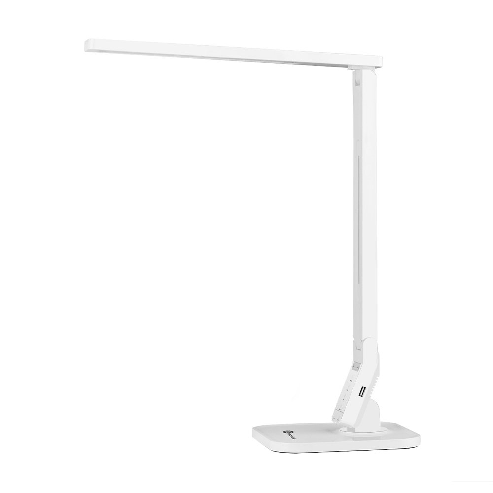 Desk Lamp, TaoTronics LED Desk Lamp with USB Charging Port, 4 Lighting Mode with 5 Brightness Levels, Timer, Memory Function, Energy Class A++, Desk Light for Study, Reading, Office and Bedroom TT-DL01