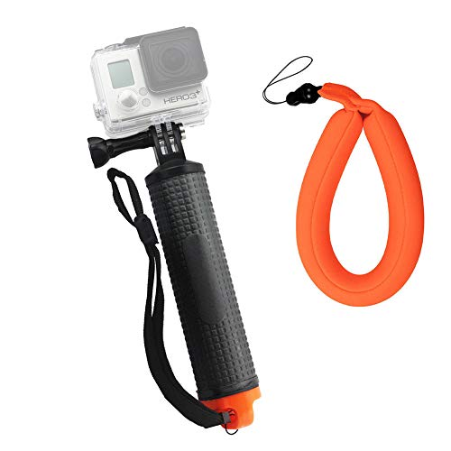 Harwerrel Waterproof Floating Hand Grip for GoPro Hero Session Black Silver Hero 7 6 5 4 3 3 2 1 SJ4000 SJ5000 Xiaomi Action Cameras with Camera Float Strap