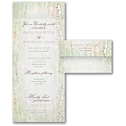 Wedding Invitations, Birch Forest - Seal 'n Send Invitation