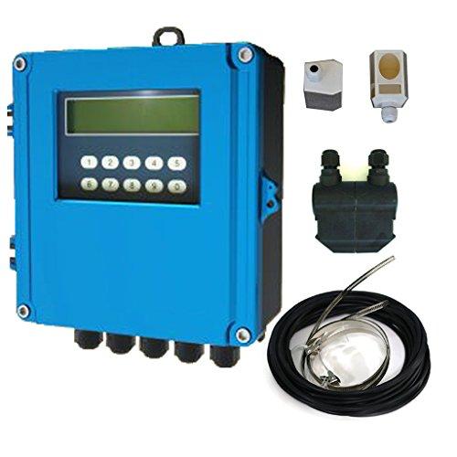 TDS-200F-M1+L2H Digital Water Meter Flowmeter Ultrasonic Wall Mounted Flow Meter for Liquids DN50-DN6000mm High Temp. Sensor Transducer by tereninstruments