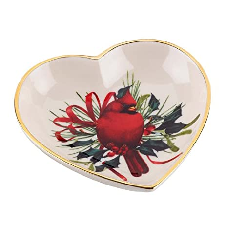 Amazon lenox winter greetings heart dish serving bowls lenox winter greetings heart dish m4hsunfo