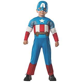 Rubie's Marvel Super Hero Adventure's Muscle Chest Costume, Captain America, Toddler