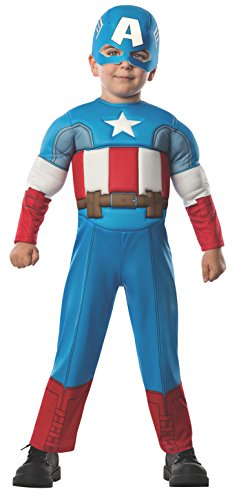 Rubie's Baby Boy's Marvel Classics Avengers Muscle Chest Captain America, Multi, Toddler ()