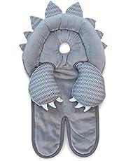 Boppy Preferred soporte para cabeza y cuello, dinosaurio gris, tela minky, soporte para la cabeza para bebés