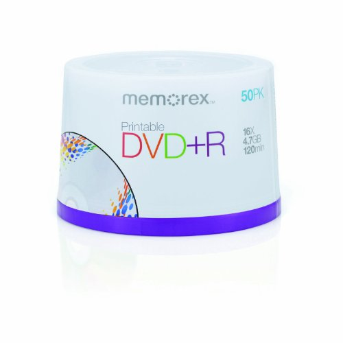 Memorex 4.7Gb/16x Printable DVD+R 50-Pack Spindle
