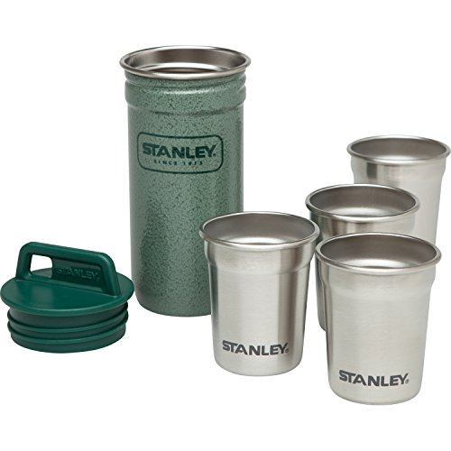 Stanley Adventure Stainless Steel Shot Glass Set Hammertone - International Europa Glasses