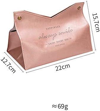 SLHP Tissue Box Nordischen Stil Papierspender Rechteckige Leder Kosmetikt/ücherbox f/ür Zuhause Auto B/üro Blau Rechteckige Badezimmer