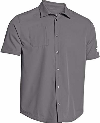 Under Armour Men's Ultimate Button Down Short Sleeve (X-Large, Graphite)