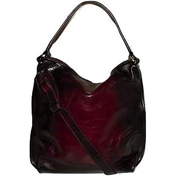 a3f94a01a01993 I Medici of Florence Women's Vintage Italian Leather Hobo Shoulder Bag  Merlot