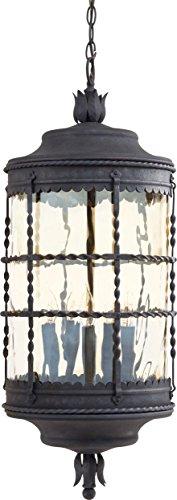 Spanish Ceiling Lighting - Minka Lavery Outdoor Pendant Lighting 8884-A39, Mallorca Ceiling Lighting for Patio, 300 Watts, Iron