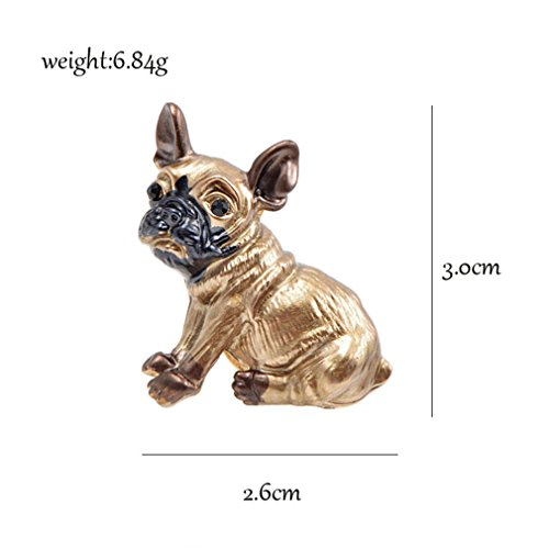 Cute Small Dog Brooches For Women And Kids Enamel Animal Brooch Pin Coat Dress Accessories Bijouterie Broches Gift dog by EERLLZ (Image #2)