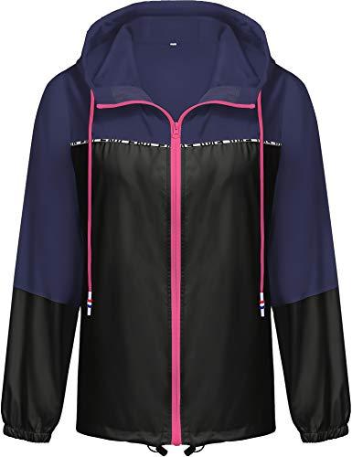 Besshopie Womens Lightweight Hooded Waterproof Active Outdoor Rain Jacket ()