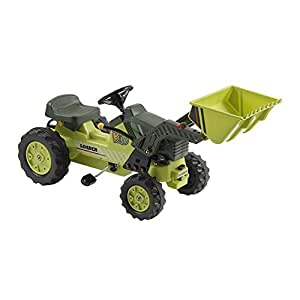 Kalee Kids Play Vehicles Pedal Tractor with Loader Green