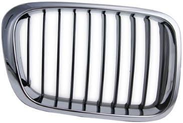 2D Chrome Frame Black Insert Front Grill Grille Passenger Right Side 400-122187-02 BM1200157 51137064318 CarPartsDepot