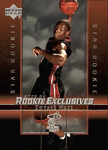 - 2003-04 Upper Deck Star Rookie - Dwyane Wade - Rookie Exclusives - Miami Heat NBA Basketball Rookie Card #5