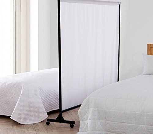 Don't Look at Me - Privacy Room Divider - Black Frame with White Fabric
