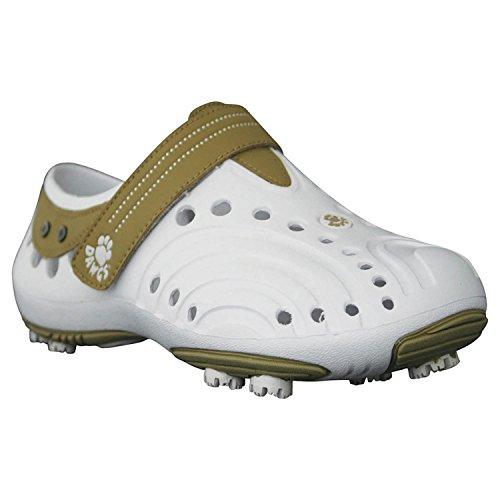 DAWGS Women's Golf Spirit Walking Shoe,White/Tan,5 M US