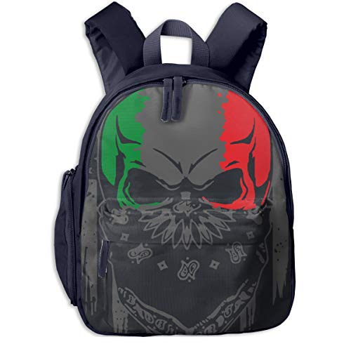 Italian Living In American Children Bag Durable Student Backpack Colorful Super Bag