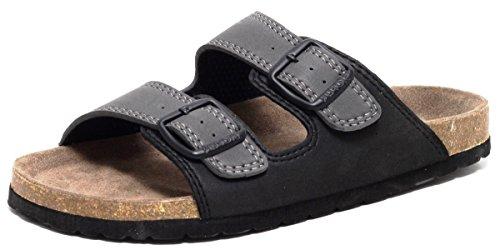Herren Bio Clogs Tieffußbett Pantolette Sandale Slipper Schuhe SCHWARZ GRAU Gr.41-45