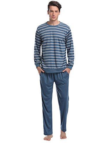 ajama Long Sleeve Striped Top and Bottom Pajama Set (Man Striped Pajamas)