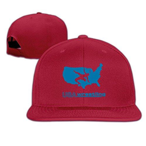 MAGIICAP Unisex Snapback Hat, Fashion USA Wrestling Adjustable Hip-Hop Flat Brim Baseball Cap by MAGIICAP