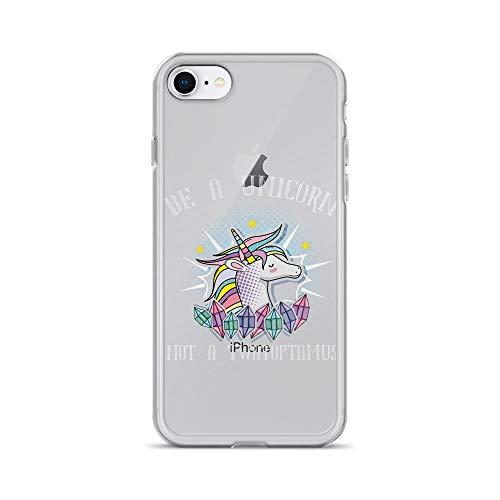 iPhone 7/8 Pure Clear Case Cover Funny Meme Be A Unicorn Not A Twatopotamus -