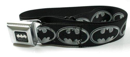 [Batman Silver Logo Seatbelt Belt] (Buckle Down Belt Buckles)