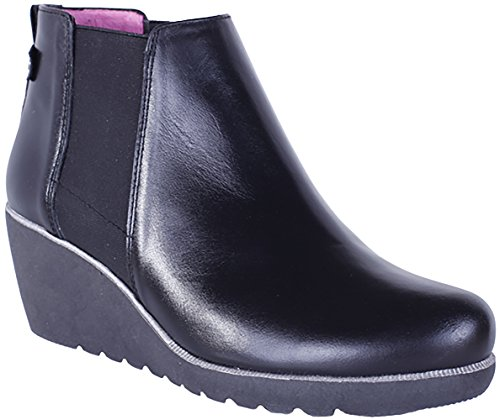 Helle Mode Confort Womens Genesis Bottine Noir
