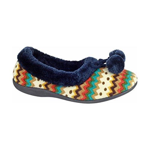 Mujer Azul Zapatillas Mirak Para Casa Bayeux Estar De Por pf0xqPg