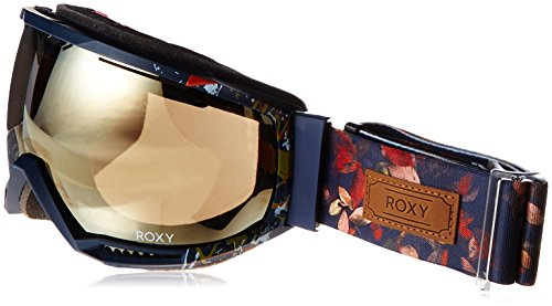 Roxy Women's Hubble Snow Goggles, Peacoat/Waterleaf, One Size (Roxy Goggles)