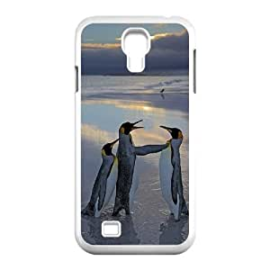 Cute Penguins Hard Plastic Back Case Cover for For Samsung Galaxy Case S4 color10