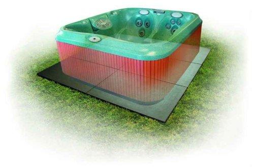 Handi Tub (Confer SP3248 8' x 8' Handi Spa Hot Tub Deck Foundation Plastic Resin Base Pad)