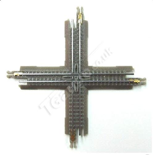T Gauge 1:450 Scale Cross Over Track Grey 60mm 90 Degree R-019