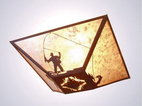 Fly Fisherman Drop Ceiling Mount ()