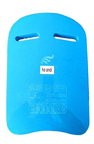 (he andi Swimming Training Aid Kickboard - U Design Swim Pool Float Floating Buoy Hand Board Tool Foam for Kids Children Summer (Blue))
