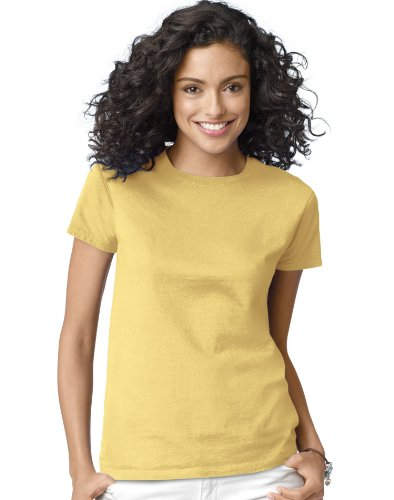 Hanes Women's T-Shirt - Small - Daffodil (Small Daffodil)