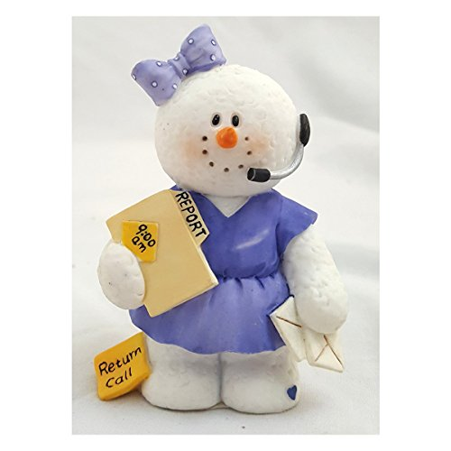 2003 Sarah's Attic Snowonders Christmas In Charge Snowman Figurine No. 0474