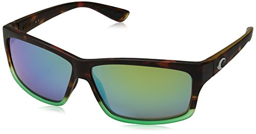 Costa del Mar Cut Polarized Iridium Square Sunglasses, Matte Tortuga Fade, 60.6 - Cut Costa