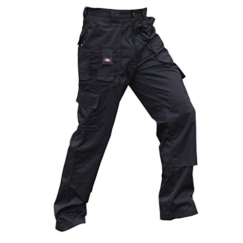 a8f8fc4751 Lee Cooper Mens Workwear Trousers (32/R) (Black)