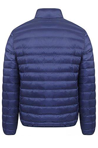 Tokyo Laundry Hommes Doudoune Neuf Paddington Rembourré Chaud Manteau Matelassé - Bleu, Homme, M - Poitrine 102cm