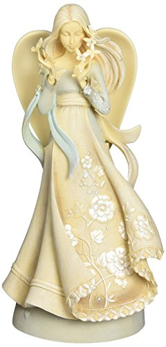 Enesco Foundations Hope Angel Stone Resin Figurine, 9