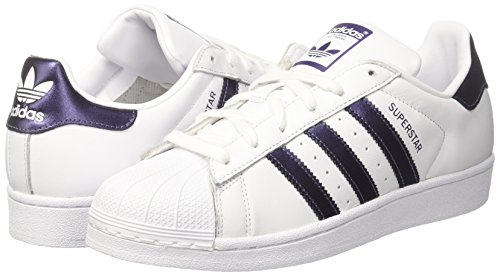 purple Femme White White footwear Superstar 0 footwear Night Metallic Baskets Adidas Blanc YBqxA