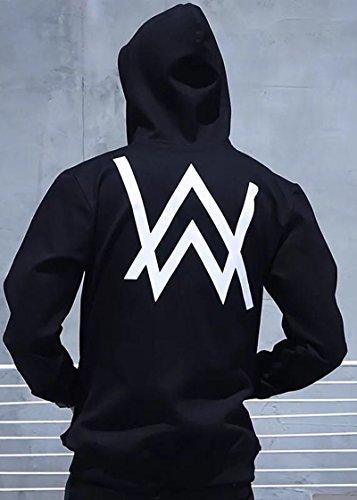 Nedal Unisex Sweater For Adult Alan Walker Hoodie Front Zipper Kanga Pocket,S