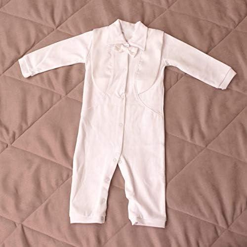 Amazon.com: Tres caracoles niños bautizo traje blanco Pelele ...