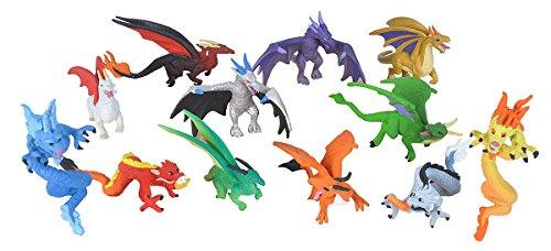 Wild Republic Dragon Figurines Tube, Dragon Toys, Twelve Dragon Figures with Six Different Poses]()