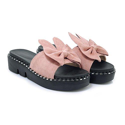 Qin&X Women's Casual Sandals Flats Flip Flop Pink