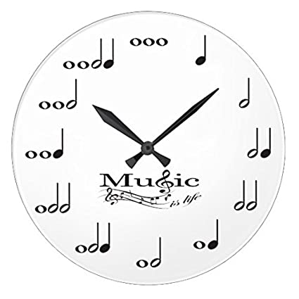 Amazon.com: Modern Wooden Clock For Kids Music Note With Music Is ...