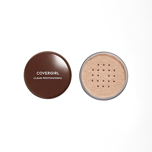 - COVERGIRL Professional Loose Finishing Powder, 1 Container (0.7 oz), Translucent Light Tone, Sets Makeup, Controls Shine, Won't Clog Pores (packaging may vary)