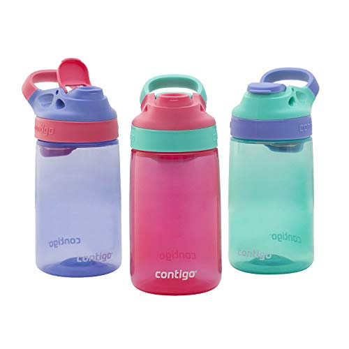 Contigo Kids Autoseal Gizmo Water Bottles, 14oz (Sprinkles/Wink/Persian Green)