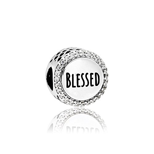 Pandora Blessed Silver Charm with Clear Cubic Zirconia ENG792016CZ3 (Blessed Charm)